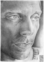 William Fichtner portrait by dmkozicka