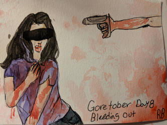 Goretober day 8(Bleeding out) by Two-broke-fangirls