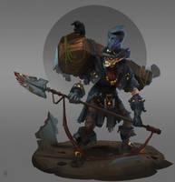 Vampire gravedigger by Trufanov