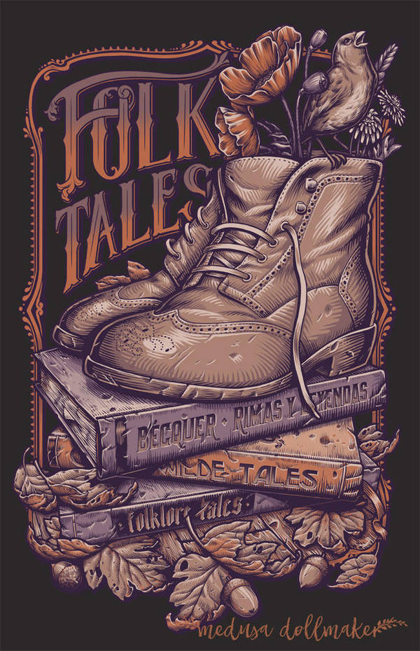 FOLK TALES PURPLE by Medusa-Dollmaker
