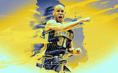 Reggie Miller NBA Wallpaper by skythlee
