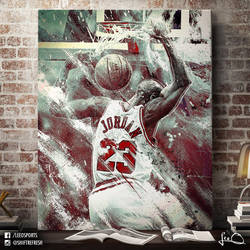 Michael Jordan NBA Artwork by skythlee