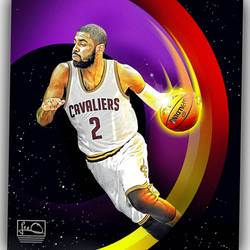 Kyrie Irving NBA Skybox inspired design by skythlee