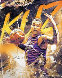 Kyle Kuzma Lakers NBA Poster Design by skythlee