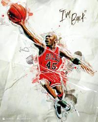 Michael Jordan NBA Caricature Poster by skythlee