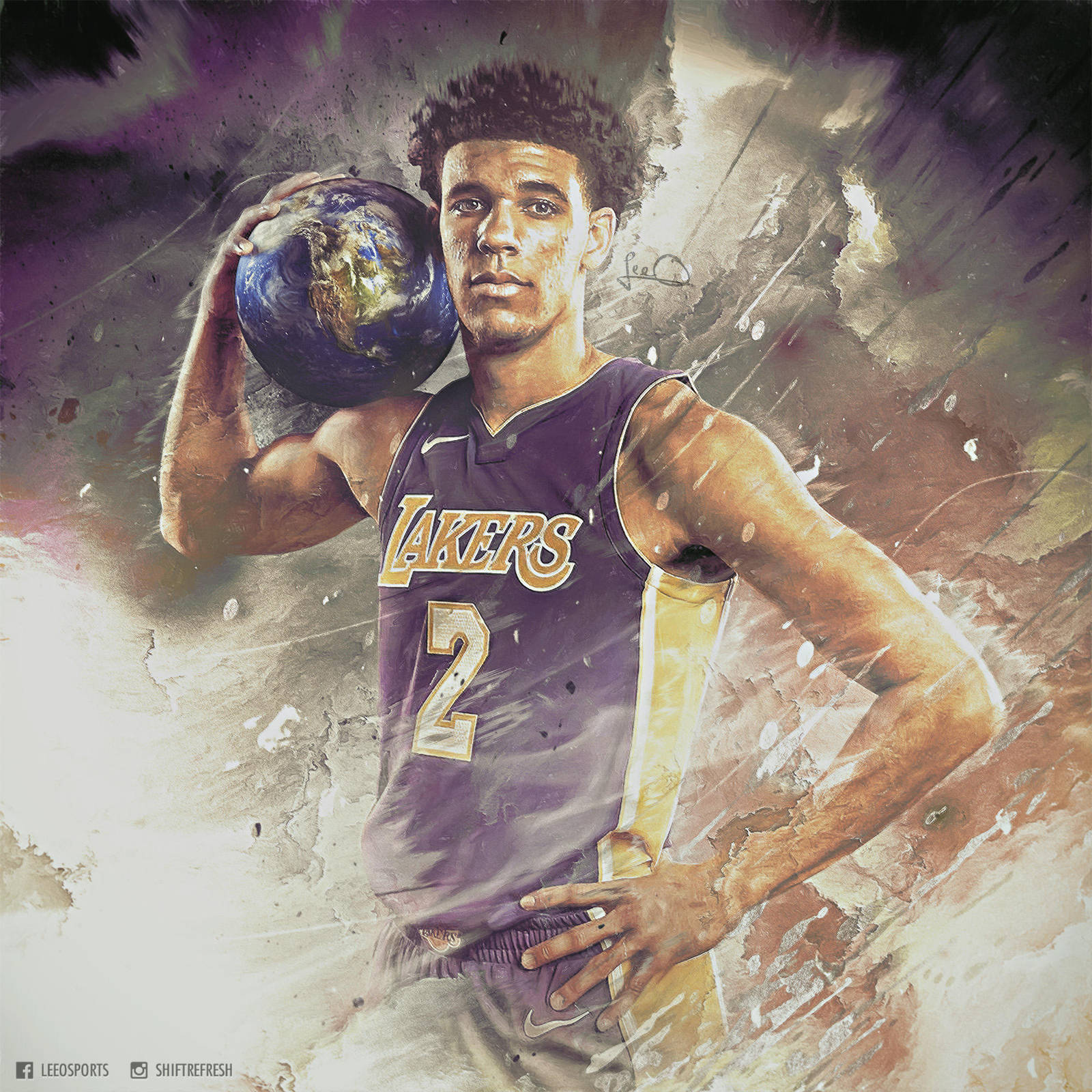Lonzo ball world is yours nba wallpaper by skythlee on - The world is yours wallpaper ...