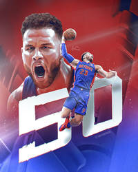 Blake Griffin - 50 Points - NBA Art by skythlee