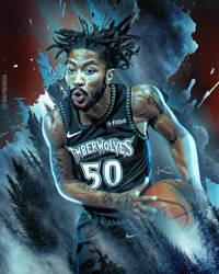 Derrick Rose 50 Point Game Artwork by skythlee