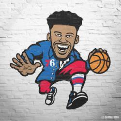Jimmy Butler Philadelphia Mural Art by skythlee
