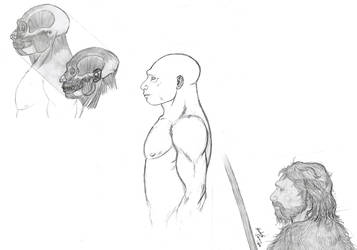 Homo neardenthalensis 2 by MunenMusho