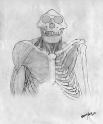 Australopithecus afarensis by MunenMusho