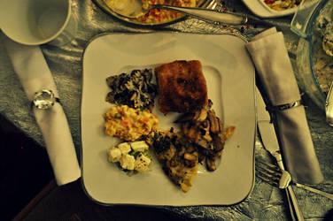 vegan Christmas Meal by angyii