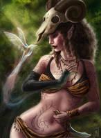 Elven Druid by AranzazuFernandez
