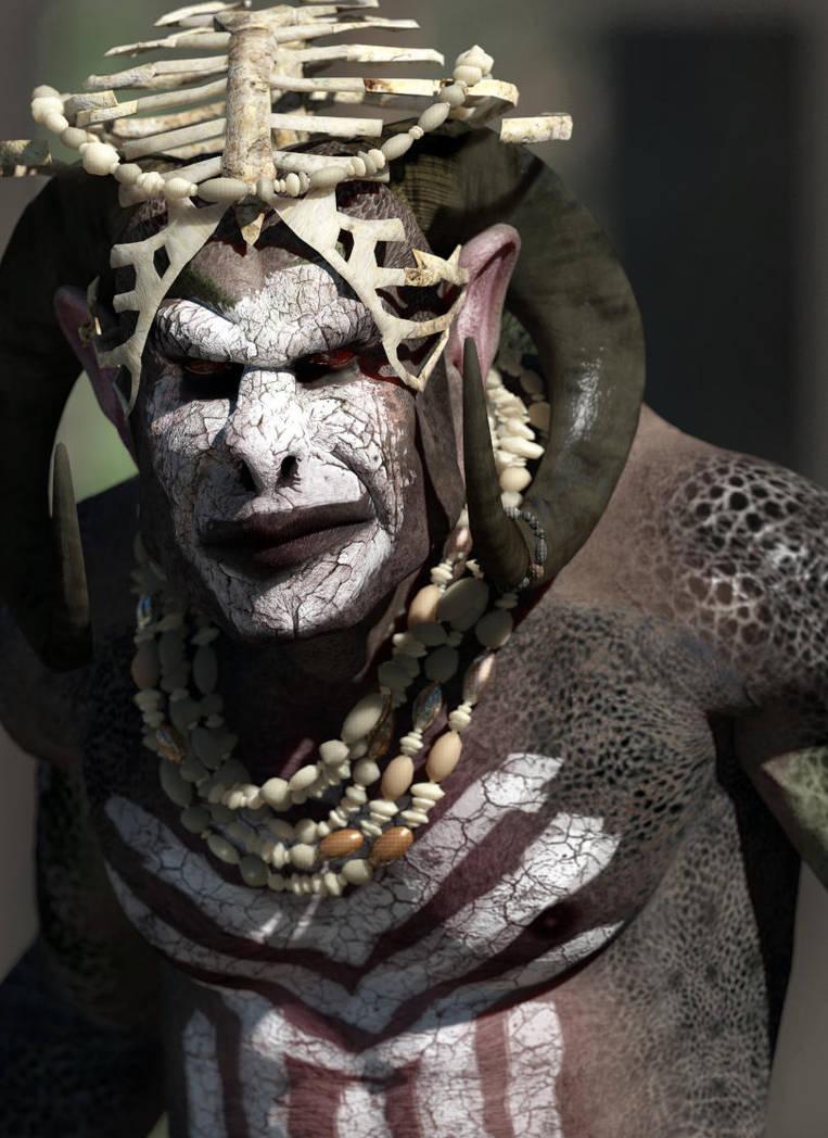 Unseen renders: the Murguul leader by erogenesisCGI