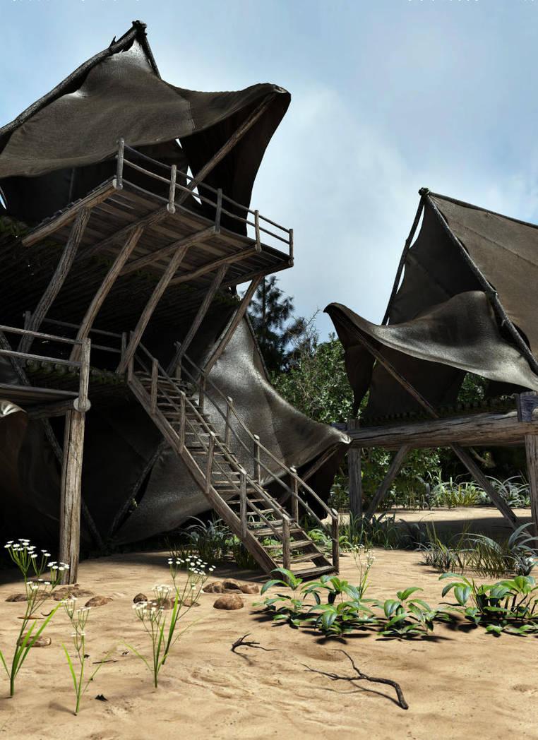 Triplonian Dwellings by erogenesisCGI