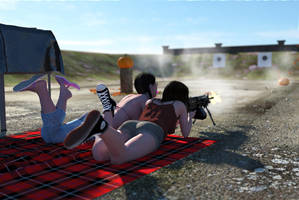 Sisters at the range 8 by erogenesisCGI