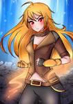 Yellow Beauty Burns Gold :.Yang.: by mianamaxi