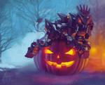 Liger Zero Midnight Shield Halloween by AuroraLion