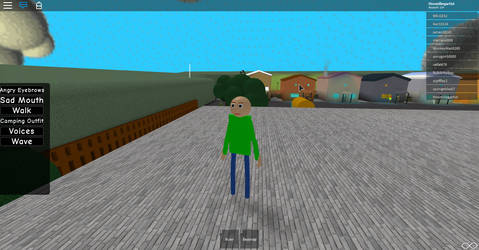 BALDI IS ON THE ROOF OF HIS SCHOOLHOUSE(Roblox) by the-grumpyfisherman