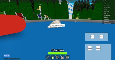 A creature haunts the pool waters!(Roblox) by the-grumpyfisherman