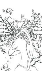 Grovyle - Dusk Forest lineart by RebelliousTreecko