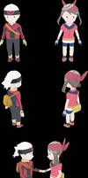 Omega Ruby/ Alpha Sapphire - player characters by RebelliousTreecko