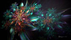 Sparkle Flowers by wolfepaw