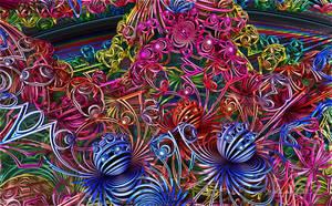 Spider Slinkies by wolfepaw