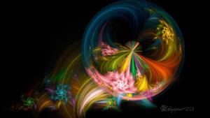 Rainbow Basic Flower Loonie by wolfepaw