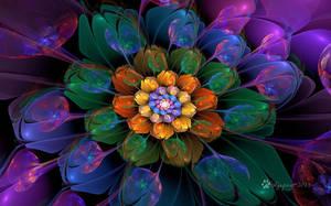 Rainbow Bubble Flower by wolfepaw