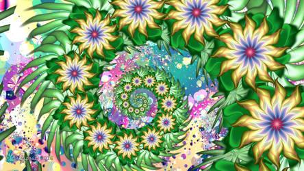 Flower Chain Spiral by wolfepaw
