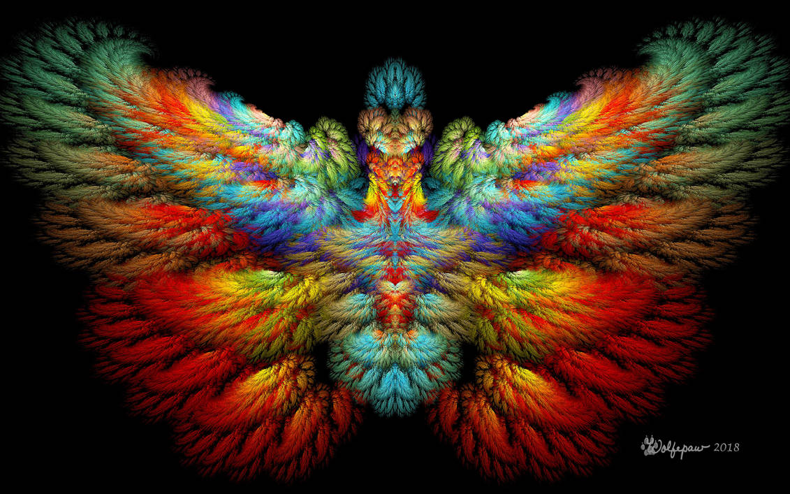 Rainbow Phoenix by wolfepaw