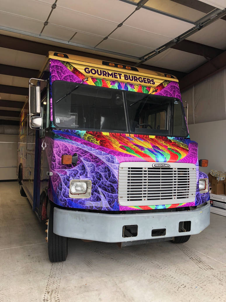 Food Truck Front with Rainbow ESplits Fractal by wolfepaw