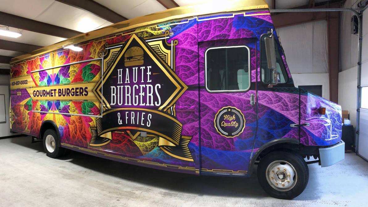 Food Truck Side 2 with Rainbow ESplits Fractal by wolfepaw