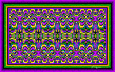 UF Chain Pong 1033 - Mardi Gras Tiles by wolfepaw