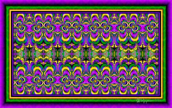 UF Chain Pong 1033 - Mardi Gras Tiles by wolfepaw