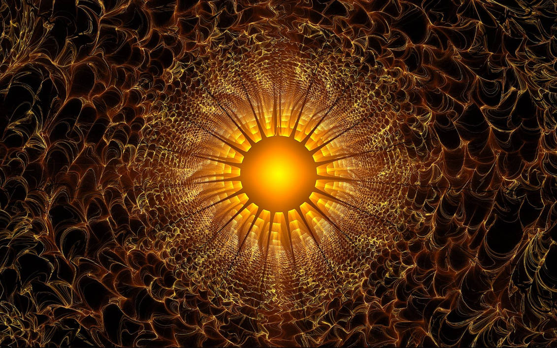 Fractal Sun for CBS Sunday Morning by wolfepaw