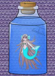 Mermaid in a jar by guigadj