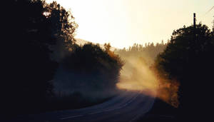 Misty morning on the road by sHavYpus