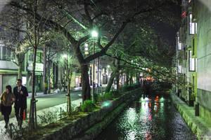 Night promenade in Kyoto by Rikitza