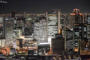 night Osaka by Rikitza