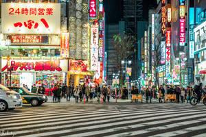 night in Shinjuku by Rikitza