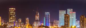 Tel Aviv night skyline by Rikitza