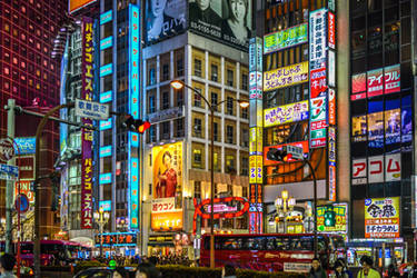 Lights in the Tokyo night - revisit by Rikitza