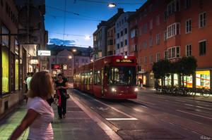 night tram in Innsbruck - revisit by Rikitza