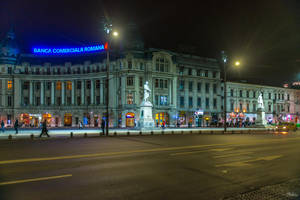 Romania for ever - when evening falls on Bucharest by Rikitza