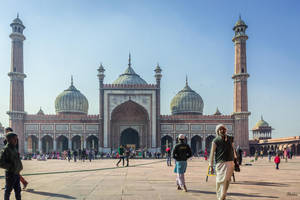 Incredible India - the great mosque in Delhi by Rikitza