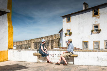 sweet Portugal - Walls and houses in Obidos by Rikitza
