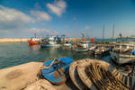 view - the old port in Jaffa by Rikitza