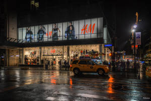 night on the fifth Avenue by Rikitza